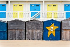 Broadstairs Beach Huts Royalty Free Stock Photo