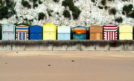 Broadstairs Beach Huts Royalty Free Stock Photos