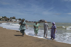 Broadstairs Dickens Festival beach party. Royalty Free Stock Photography