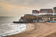 Broadstairs Viking Bay, i vinter Royaltyfri Foto