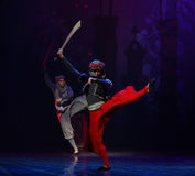 "Broadsword dance- ballet ""One Thousand and One Nights"" Royalty Free Stock Photos"