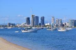 Broadwater英属黄金海岸昆士兰澳大利亚 库存照片