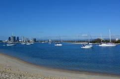 Broadwater英属黄金海岸昆士兰澳大利亚 图库摄影