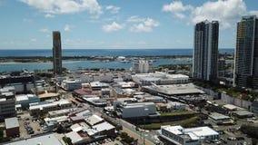 Broadwater-Ansicht von Southport-Mall Queenslan, Gold Coast Southport, das in Richtung des broadwater blickt stock video footage