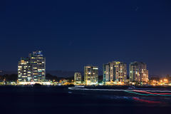 Broadwater la nuit Photo stock