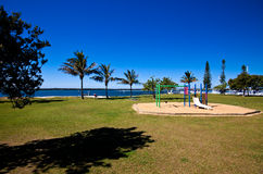Broadwater Park. A beautiful parklands area beside the Broadwater, Gold Coast, Australia Royalty Free Stock Photo
