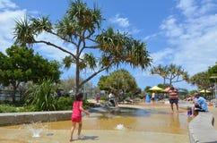 Broadwater Parklands -英属黄金海岸澳大利亚 库存图片