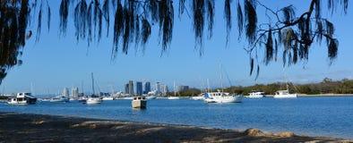 Broadwater złota wybrzeże Queensland Australia Zdjęcia Stock