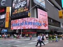 Broadway和时代广场地区 图库摄影