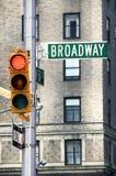 broadway曼哈顿 库存照片