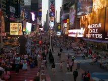 Broadway街道时常摆正纽约 库存照片