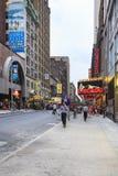 Broadway και W4 9 οδός, πόλη της Νέας Υόρκης, ΗΠΑ Στοκ Εικόνες