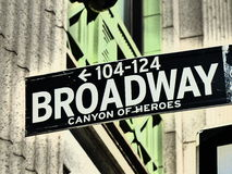 broadway πόλη Νέα Υόρκη Στοκ φωτογραφία με δικαίωμα ελεύθερης χρήσης