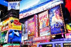 Broadway показывает New York Стоковая Фотография