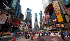 Broadway. New York city , people on Broadway Royalty Free Stock Photos