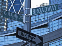 Broadway. Street sign of the Broadway in New York City stock photo