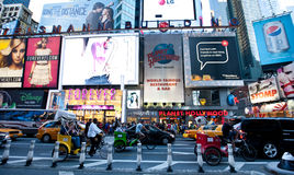Broadway. New York city , taxi cabs and people on Broadway Royalty Free Stock Photography