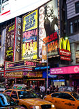 Broadway. New York city , billboards on Broadway Royalty Free Stock Photos
