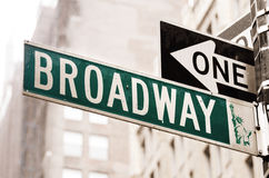 Broadway. A broadway street sign in new york stock photography