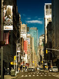 On Broadway. The longest avenue in New York Stock Image