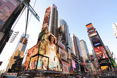 Broadway and 42nd Street Intersection. Billboards on broadway in Times Square New York City Royalty Free Stock Photo