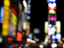 Broadway. Shot of Broadway's Lights in Blur and defocus Royalty Free Stock Photos