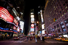Broadway. Image of Broadway, New York city , night stock photos