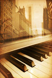 Broadway. Old historical new york background with broadway Royalty Free Stock Photos