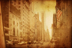 Broadway. Old historical new york background with broadway royalty free illustration