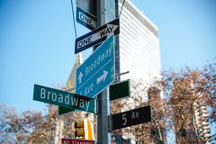 Broadway all the ways Royalty Free Stock Photos