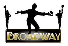 Broadway begreppsbakgrund arkivfoto