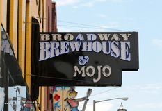 Broadway Brewhouse & Mojo Grill, Downtown Nashville Tennessee Stock Image