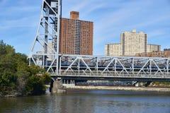 The Broadway Bridge in New York stock photography