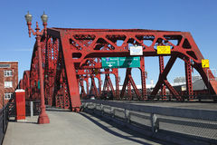 The Broadway bridge, Portland OR. Royalty Free Stock Photos