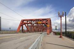 Broadway bro Portland Oregon Royaltyfria Foton