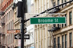 Broadway and Broome Street in Soho Manhattan, New York City Royalty Free Stock Photos