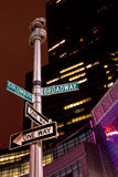 Broadway and Columbus Circle intersection Royalty Free Stock Image