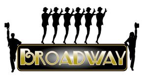 Broadway concept background. Broadway concept with chorus line dancers Royalty Free Stock Image