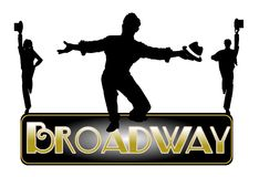 Broadway concept background. Broadway concept with principle male dancer vector illustration