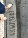 Broadway. The day always ends, so dont worry about it Stock Photos