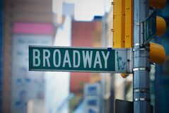 Broadway, de Stad van New York Stock Afbeeldingen
