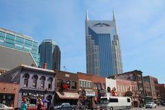 Broadway em Nashville, Tennessee Imagens de Stock