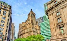 26 Broadway, en historisk byggnad i Manhattan, New York City Byggt i 1928 Royaltyfria Bilder