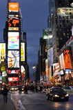Broadway en Times Square Royalty-vrije Stock Afbeelding