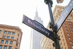 Broadway firma dentro New York Fotografia Stock