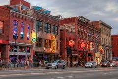 Broadway gata Nashville Tennessee Arkivbild