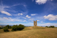Broadway Hill with Broadway Tower Stock Photo