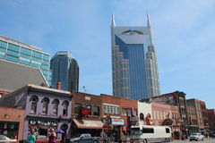 Broadway i Nashville, Tennessee Arkivbilder