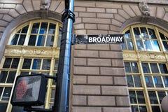 Broadway i nowyork Arkivfoton