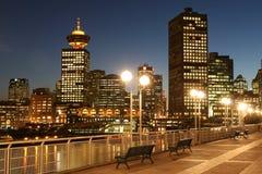Broadway incontra Vancouver fotografie stock libere da diritti